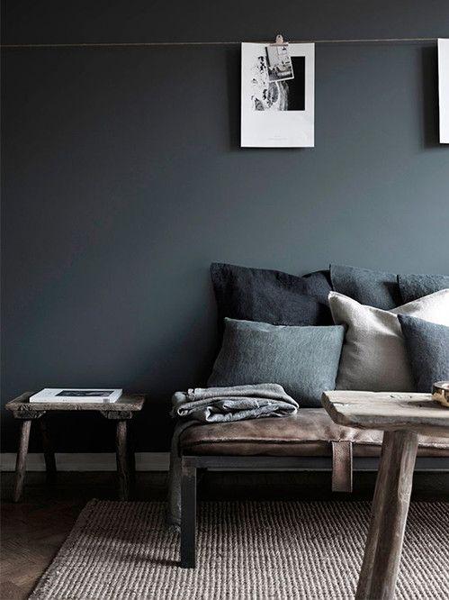 ¡Atrévete con las paredes negras! La pintura oscura es tendencia