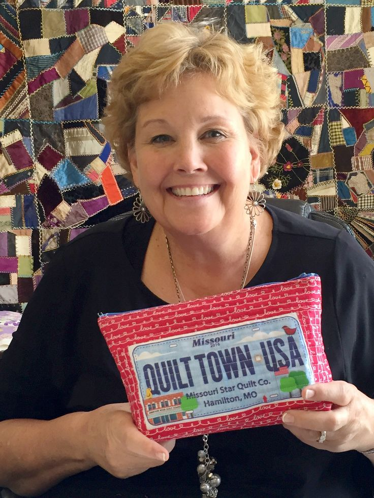 Make a zipper pouch with your Row by Row fabric license plate!