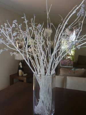 17 best images about christmas decor on pinterest led - White painted tree branches ...