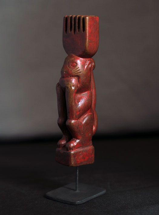 Red Squirrel Slingshot #6505 Dimensions: 5″ tall Description: Good antique condition from Guatemala, Guatemala. Price: $200.00 including shipping