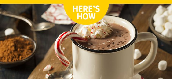 How to create a peppermint hot chocolate