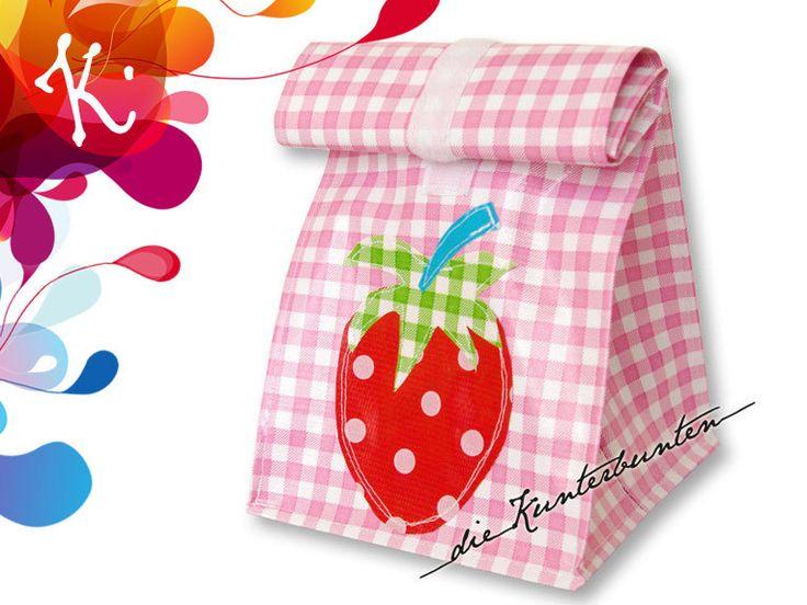 Brotbeutel  Lunchbags - Lunchbag mit Innenfutter - ein Designerstück von DieKunterbunten bei DaWanda