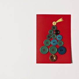 Decorazioni natalizie per biglietti fai da te | Donna Moderna