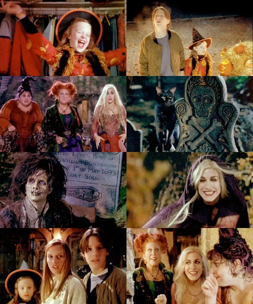 Hocus Pocus (1993), my childhood (and one of the greatest movies ever)!! Bette Midler, Thora Birch, SJP, Sean Murray (aka McGee from NCIS), just an awesome and perfect cast!