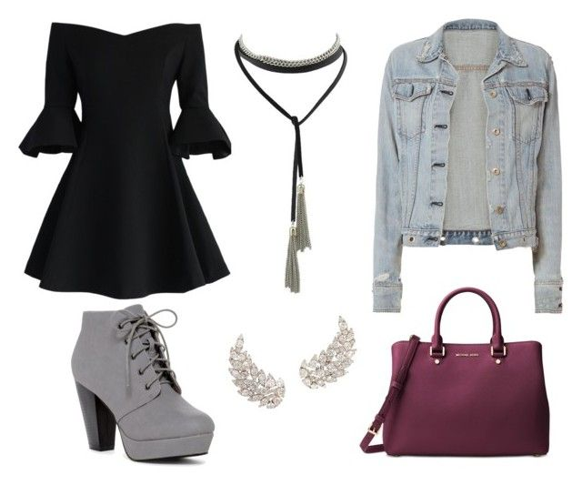 """""""Party"""" by chloe-huguenin on Polyvore featuring Chicwish, rag & bone and Michael Kors"""