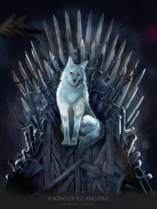 A Dire Wolf (Ghost to be more precise) on the Iron Throne! By Jason Bramble