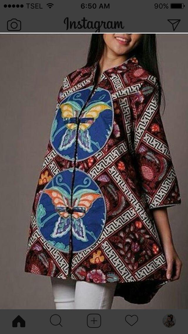 Dress batik kupu