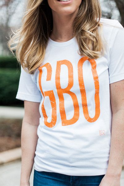 GBO White Short Sleeve T-shirt University of Tennessee  Game day apparel for women Volunteers