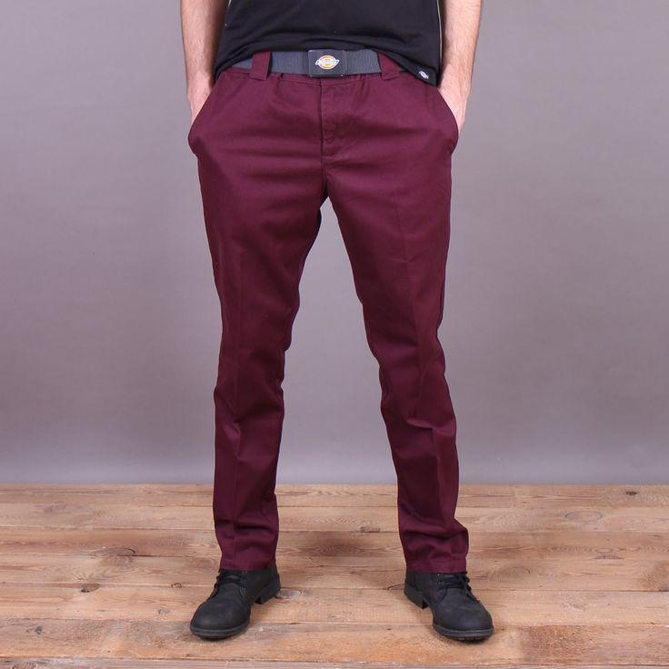 Bordowe spodnie Dickies C182 GD Pant Maroon / www.brandsplanet.pl / #dickies streetwear