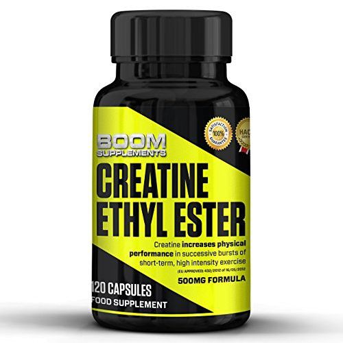 Boom Supplements Ethyl Ester 500Mg Creatine Pills 120 Muscle Gain Tablets