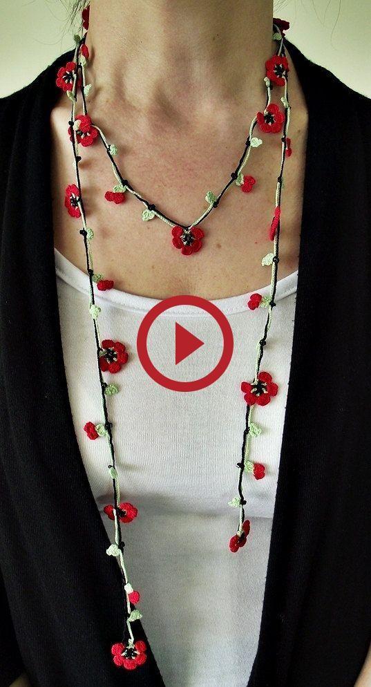 Blumen Halskette   – Frauen Schmuck