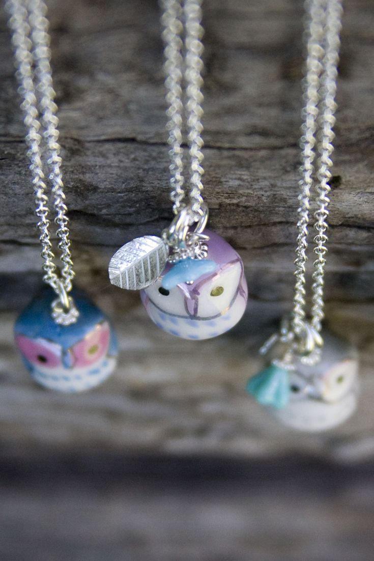 I just love these adorable and tiny owl charm necklaces!  Perfect gift for the owl lover!