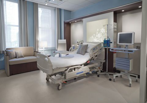 Opus | Nurture by Steelcase – Healthcare Furniture.  The product would be really lovely in a partum suite.  Med gases on the side of the headwall are a great way to minimize the look of clutter