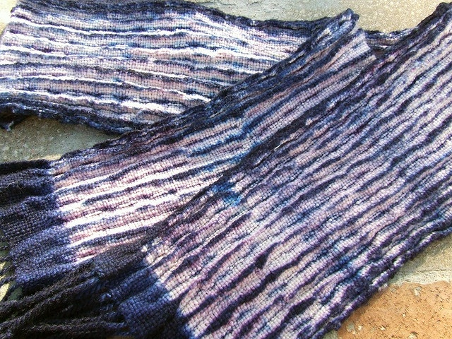 woven shibori: Photo Sharing, Finished Scarf, Woven Shibori