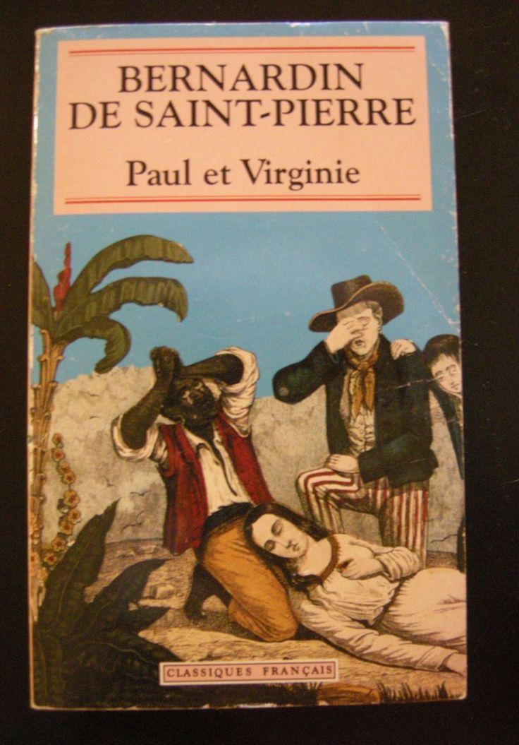 Libro Vintage originale Saint-Pierre Paul et Virginie Letteratura Lingua Francese Anni 90 Idea Regalo Classici Romanzo di VintageBooksPrints su Etsy