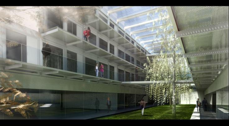 University Barcelona Campus in Santa Coloma Gramanet by Patxi Mangado + Ramón Sanabria Arquitectes FIRST PRIZE