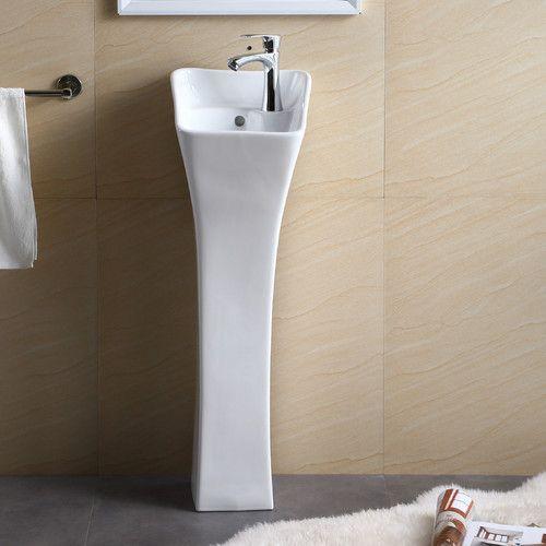 """Found it at Wayfair - Pedestal Series 12.19"""" Bathroom Sink"""