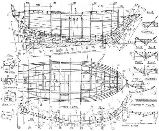 Конструктивный чертеж корпуса и закладка