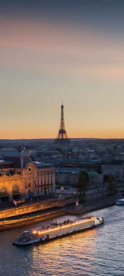 Travel Inspiration for France - End of Day: Musée d'Orsay, Paris, France (HDR)