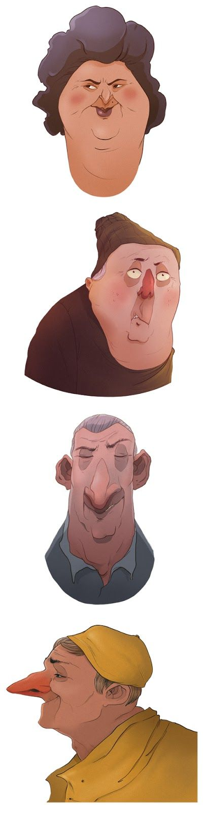 figures de différents caractères