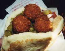 ... half and the roasted ones were just as good if not better! Falafel