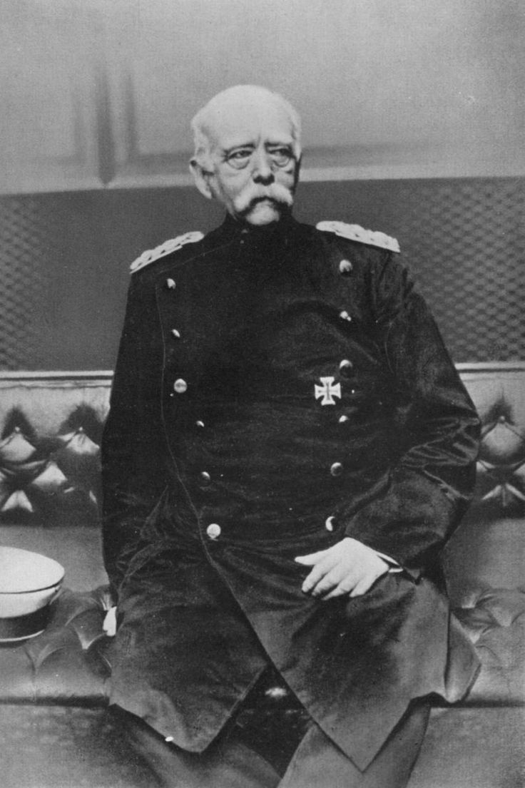 Otto von Bismarck (1815–1898), chancellor of Germany from 1871 to 1890. When fired by Kaiser Wilhelm II, Bismarck's policies and alliances fell apart and Europe got one step closer to WW1. Wilhelm engaged Britain in a sea arms race and looked at attaining more colonies. Bismarck had wanted to be allies with Britain and also felt the future and security of the German state lay within Europe.