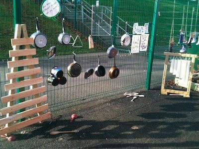 Outdoor Music Wall-I would like to add this to the playground.