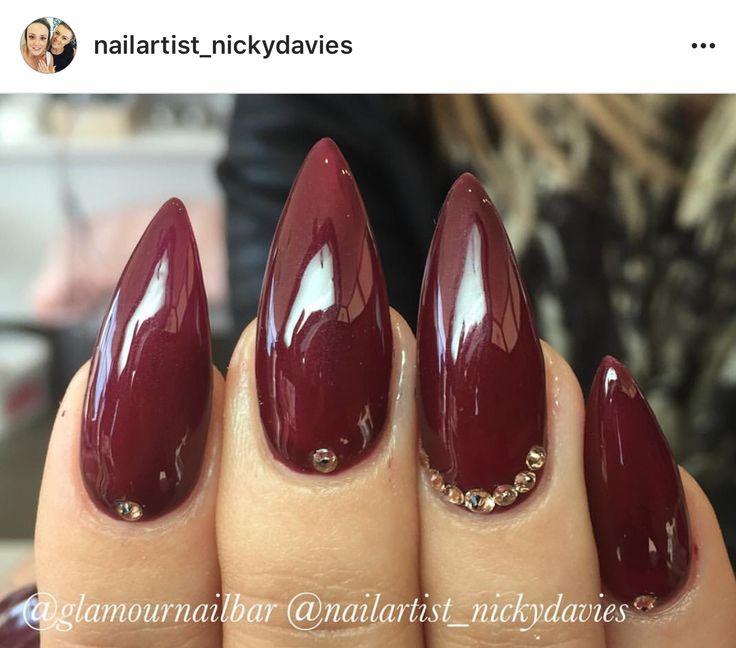 Best 25+ Dark red nails ideas on Pinterest | Maroon nails ...