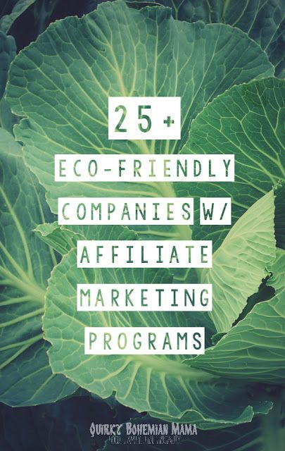 25+ Natural, Fair Trade & Eco-Friendly Companies with Affiliate Marketing Programs {Affiliate programs for green, earth-conscious bloggers}