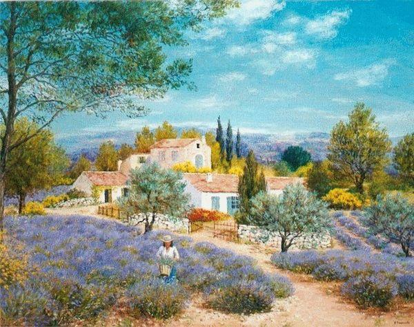 Paysage en peinture ELISABETH FOUCARDE