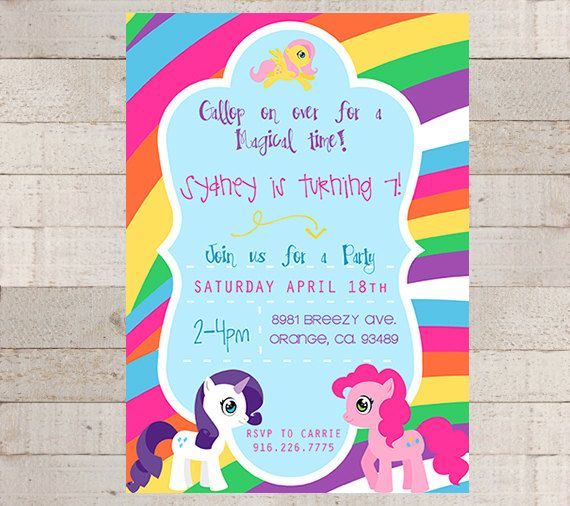 30 best my little pony ideas images – Little Girl Party Invitations