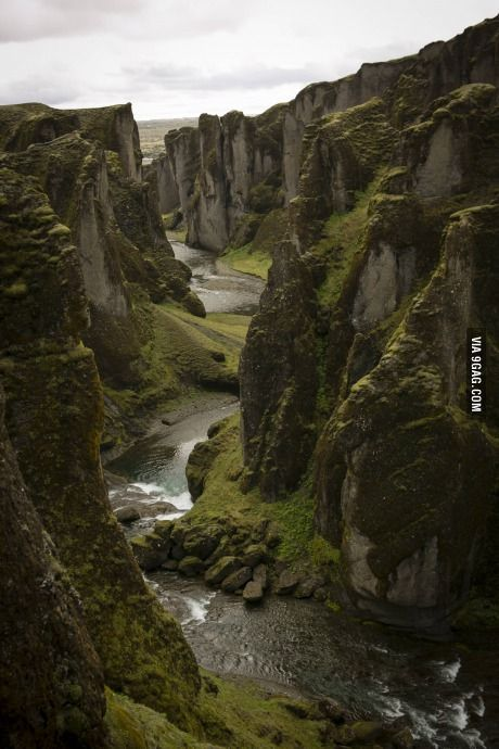 I almost missed my hotel checkin because I spent way too much time walking around this place - Fjadrargljufur, Iceland
