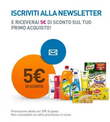 Scarica buono sconto UnileverShop.it risparmiando 5€ sui prodotti per la pulizia della casa, per la cura della persona e bambino