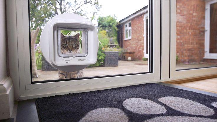 Nähert sich ein Tier der Katzenklappe aus einer beliebigen Richtung, scannt und erkennt das Gerät dessen Mikrochip oder den Halsbandanhänger und öffnet sich, sofern die entsprechenden Zugangs- bzw. Ausgangsberechtigungen bestehen.