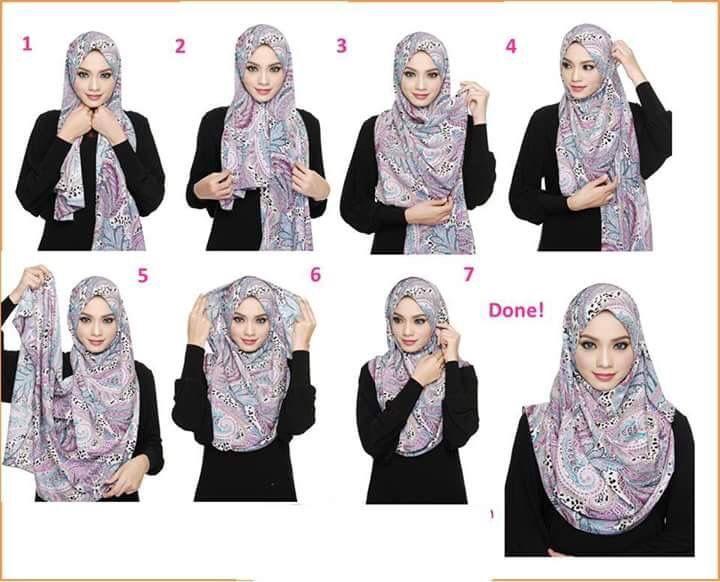 Donning hijab