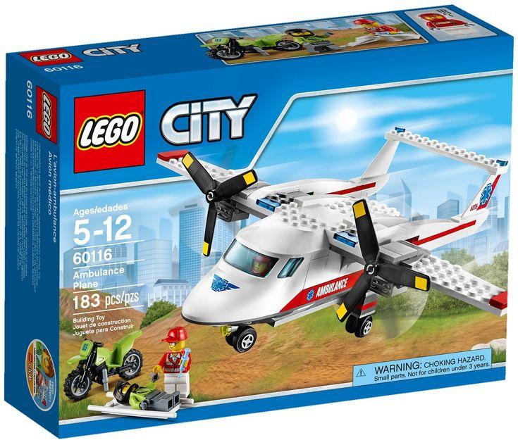 Comparez les prix du LEGO City 60116 L'avion de secours avant de l'acheter ! Infos, description, images, vidéos et notices du LEGO 60116 L'avion de secours sur Avenue de la brique