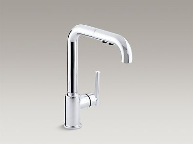 kohler k7505cp purist singlehole kitchen sink faucet - Kohler Kitchen Faucet