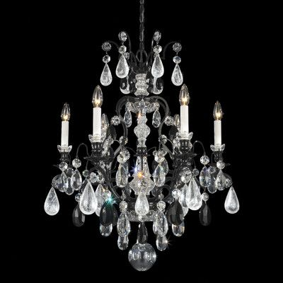 Schonbek Renaissance Rock Crystal 6 Light Chandelier