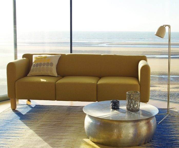 Embrace The Sun With A 3 Seat Clarke Sofa In Yellow Habitat Living Room