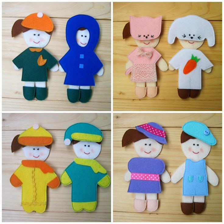 Interactive Toys - Felted Dolls with Clothes | HoneyBunnyCare - on ArtFire