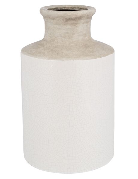 This robust decorative vase will look great on its own or with blooms of artificial flowers.
