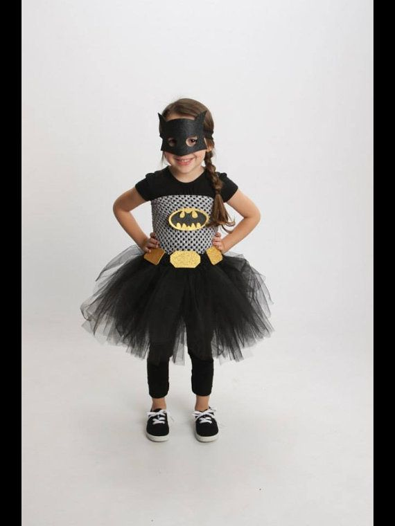 SUPERHERO costume Girl BATMAN Tutu dressToddler by JennasGarden