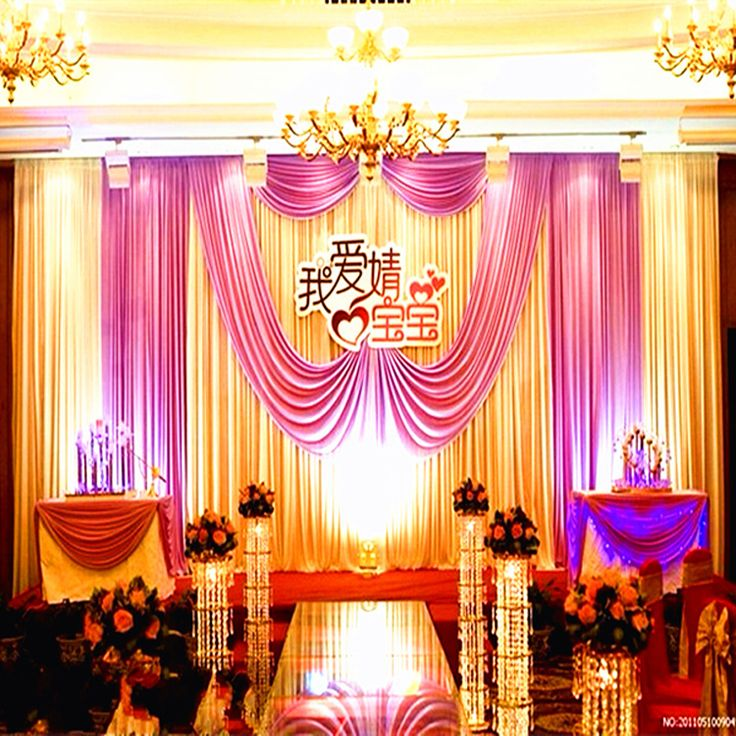 2015 Hot Selling Free Shipping Beautiful Wedding Decoration 10ft*20ft Stage  Backdrop With Detachable Swag