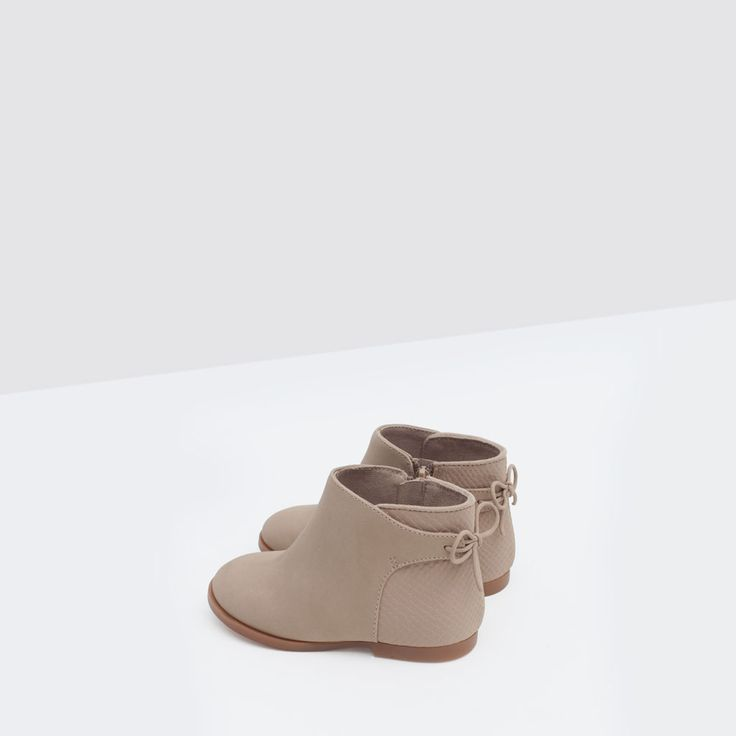 ZIPPED BOOT WITH LACE DETAIL-Shoes-Baby girl | 3 months - 3 years-KIDS | ZARA United States