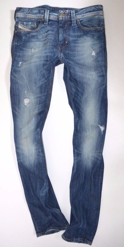 f3274b36 Perfect men DIESEL THANAZ 008B9 rip Low waist Slim Skinny leg JEANS size  W28 L32 #Diesel #SkinnySlim