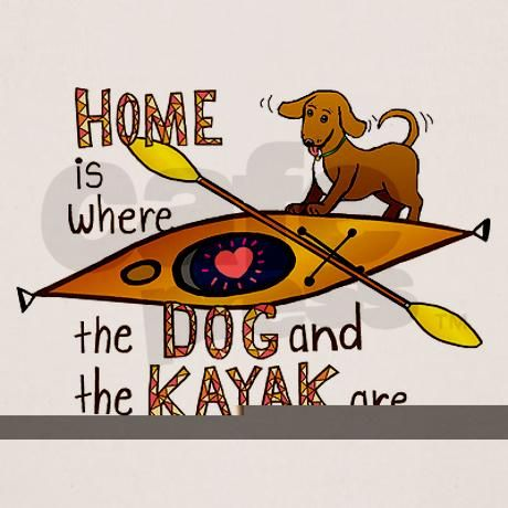 Dog and Kayak Shirt on CafePress.com
