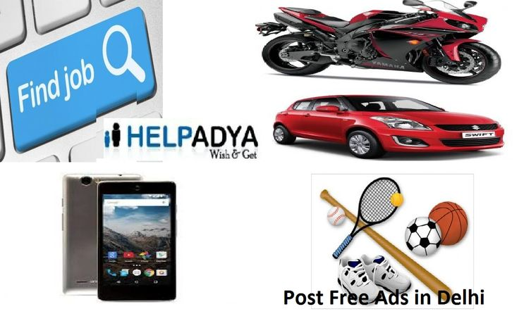 Help Adya is the  Free Classified Sites in India where you can post free ads and get enormous encouragement. You just have to search and post the Ad that ensemble your needs and funds as well. Help Adya is the one-stop-shop with broad array of product & services like cars, bikes, mobiles, watches, electronic appliances, furniture, accessories, clothes, pets, real estate, jobs, books and so more. For more information please visit our website www.helpadya.com or call at +91-8527198118.