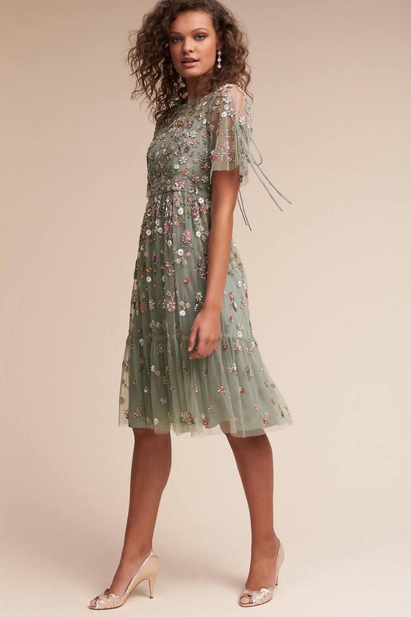 Anthropologie Bobbi Wedding Guest Dress #anthrofave