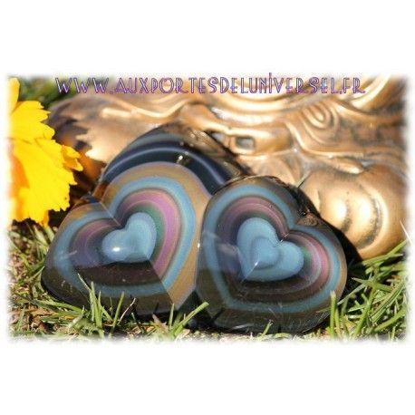 Double Coeur en Obsidienne Oeil Céleste n°4