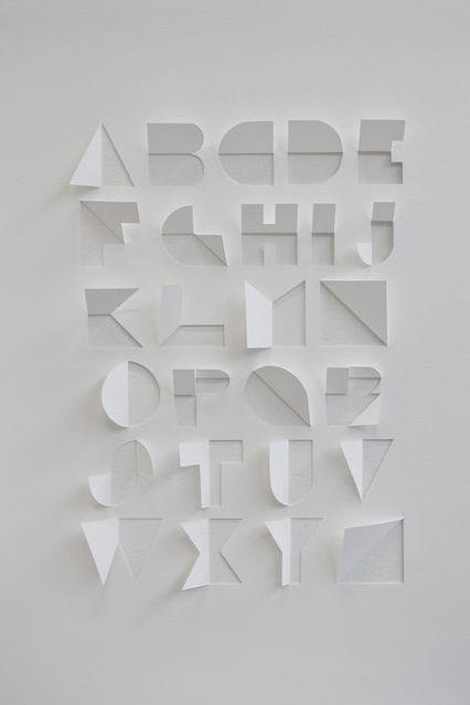 STYLEeGRACE ❤'s this alphabet art!